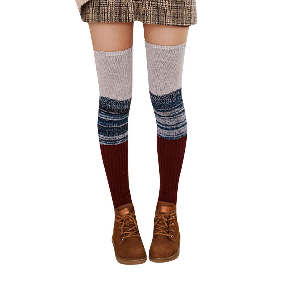 PASATO New!Women Ladies Warm Windproof Winter Wool Leg Warmers Knitted Crochet Socks Leggings(,Free Size)