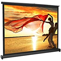 APEMAN 40'' 4:3 Portable HD Projector Screen for Home Cinema Theatre Office Roll-on Pull-Down Collapsible Screen Freestanding Fabric Matte White