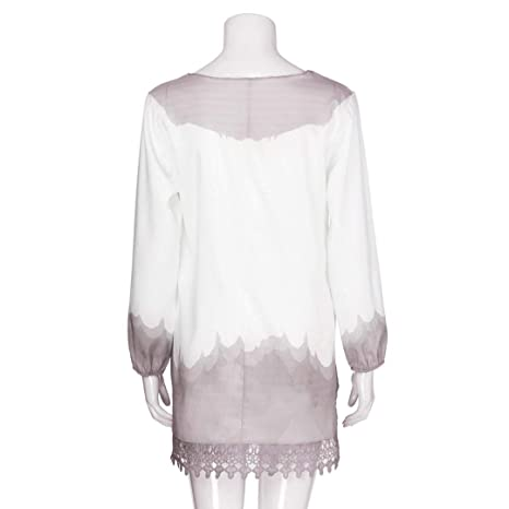 80ae32a6773 Youngh 2018 New Womens Blouses Plus Size Lace Print Loose Long Sleeve  Pullover Fashion Blouse T Shirt Tops   Grocery   Gourmet Food