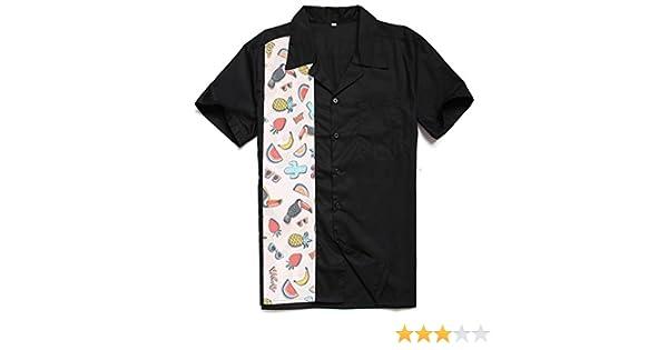 Candow Look Hombre Camisa 50s Ropa Style Camisa Tipo Bolera Shirts: Amazon.es: Ropa y accesorios