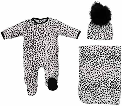 914f03b07d57 Cream Bebe Velour Take Me Home Soft Footie Blanket and Hat Unisex Newborn  Baby Gift Set