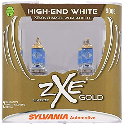 SYLVANIA - 9006 (HB4) SilverStar zXe GOLD High Performance Halogen Headlight Bulb - Headlight & Fog Light, Bright White Light Output, Best HID Alternative, Xenon Charged Technology (Contains 2 Bulbs): Home Improvement