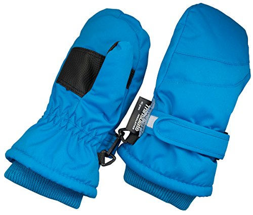 Children Toddlers and Baby Mittens Made With Thinsulate,and Fleece - Winter Waterproof Gloves - KX GEAR by Zelda Matilda,Light Blue,5-6 years - Childrens Fleece Gloves