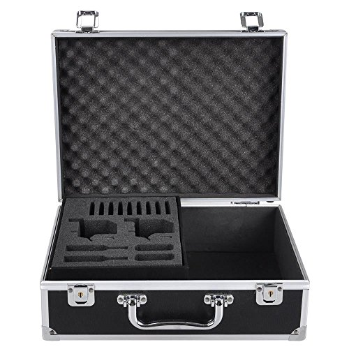 AW Professional Tattoo Kit Case W/Lock Key Aluminum Carry Storage Supply Bag Potable 12x9x4