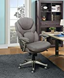 Serta Works Executive Office Chair with Back in Motion Technology, Fabric, Light Gray