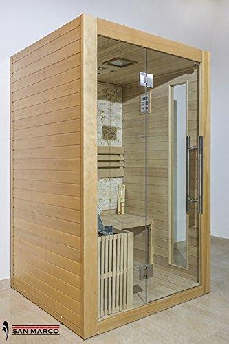 San marco formentera cabina sauna finlandese in legno per due persone with saune da casa for Costruire una sauna in casa