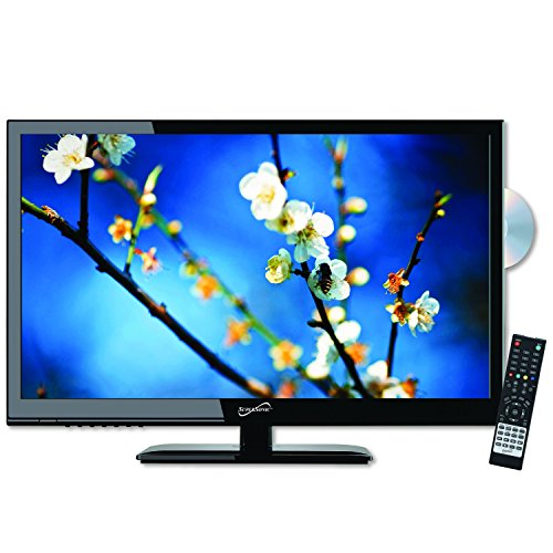 SuperSonic 1080p LED Widescreen HDTV with HDMI Input, AC/DC Compatible for RVs and Built-in DVD Player, 24-Inch