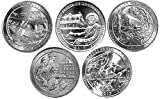 2017 P Complete Set of 5 National Park Quarters Uncirculated