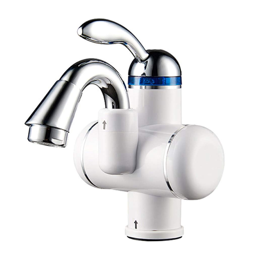 White 26.210.730.8CM Zhanghongshop Single Hole Hot And Cold Mixing Bathroom Faucet 220V Faucet Kitchen Heating Faucet 180° redating Faucet Bathroom Hot Faucet (color   WHITE, Size   26.2  10.7  30.8CM)
