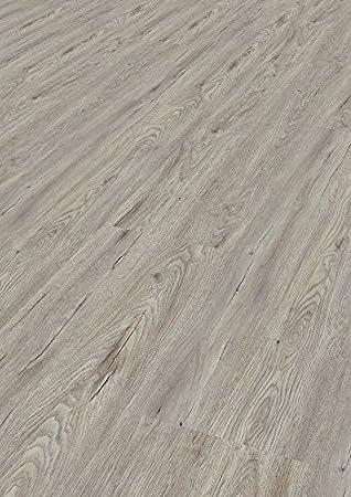 Bodentrend Vinyl Galant Vinyl Designboden Vinylboden zum Klicken 9,5 mm St/ärke 1 Paket mit Trittschalld/ämmung 1,88 m/² Argento 0,30 mm Nutzschicht