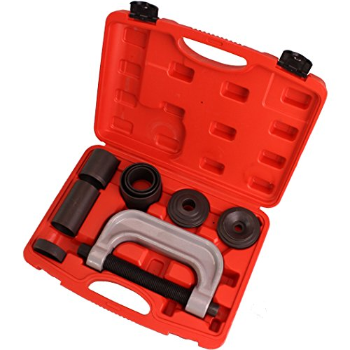 CARTMAN 4-in-1 Ball Joint Deluxe Service Kit Tool Set 2wd & 4wd Vehicles Remover Install, with 4-Wheel Drive Adapters ()