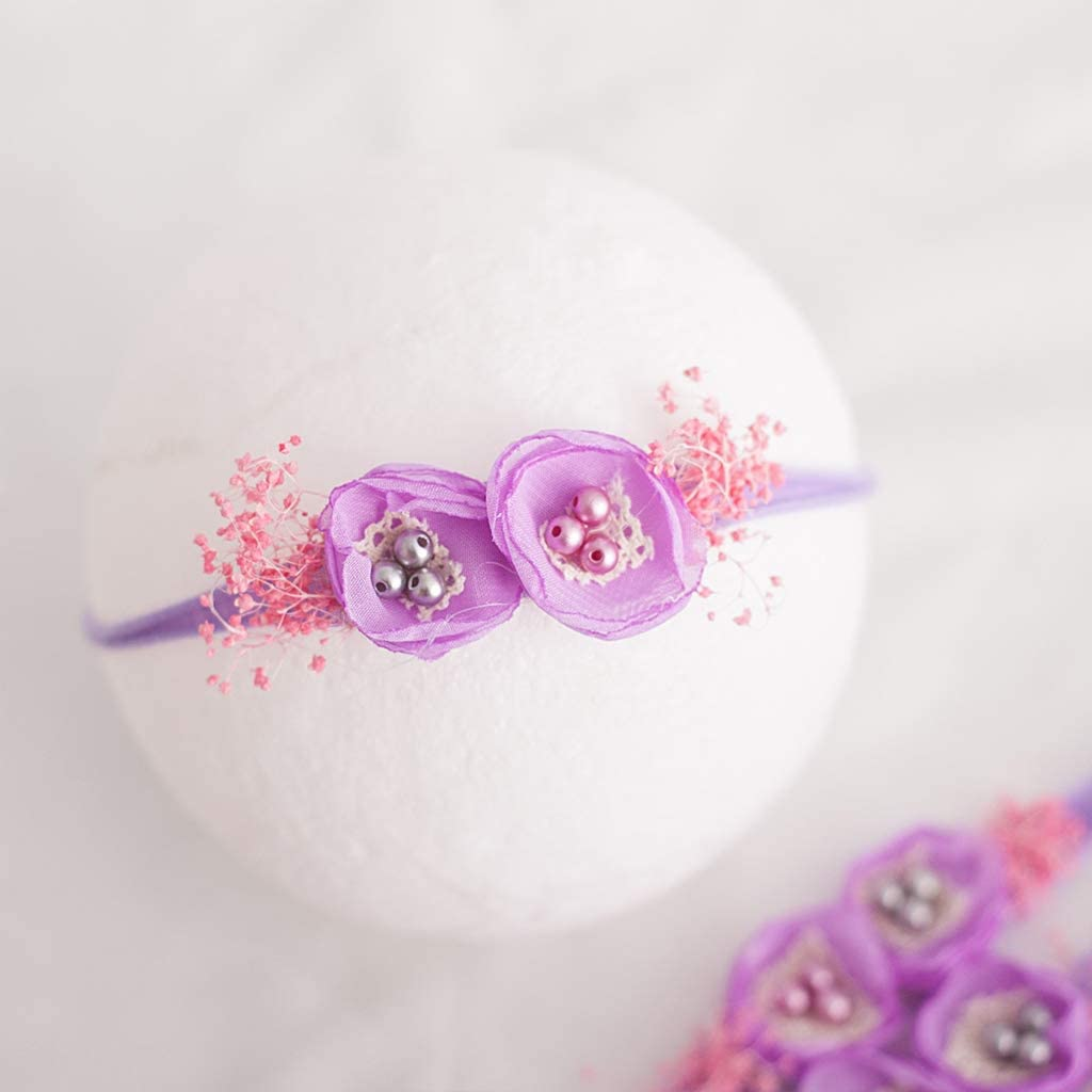 A0127 Nettes Baby-Fotografie-Kopfschmuck-S/äuglingsfoto-manueller Kopf-Blumen-neugeborenes Foto-Haarband-Zubeh/ör