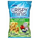 Quaker Crispy Minis Tortilla Style Creamy Ranch Rice Chips, 100-Gram, 12 Count