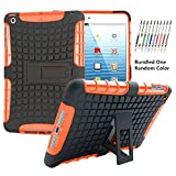iPad Mini Case Aken Tech Anti-slip Shock Absorbing Double Protective Case with Build-in Kickstands for iPad Mini 1/ Mini 2/ Mini 3 (Orange)