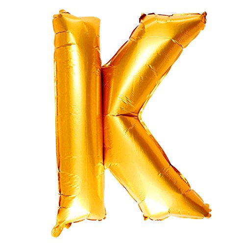 Gold  K  Oversized 40 Inch Decorations Dazzling Balloons