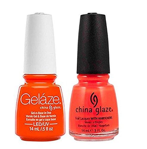 - China Glaze Gelaze Tips and Toes Nail Polish, Orange Knockout, 2 Count