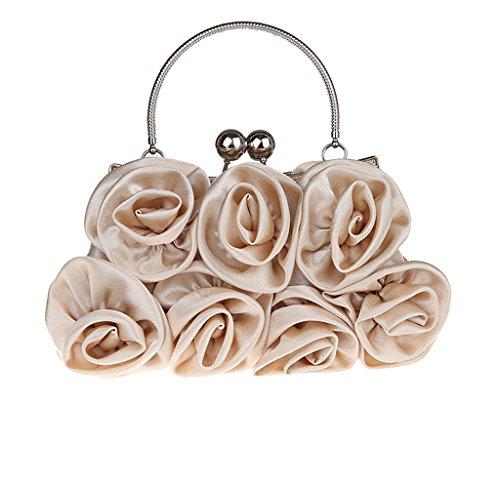 multicolore Abricot 13 en 5 cm soiree sac x pour l de No Pochette mariage rose satin a Femme main Cadeau x fleur 27 RfZBwqx