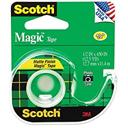 Bulk Buy: 3M Scotch Magic Tape Matte .5\