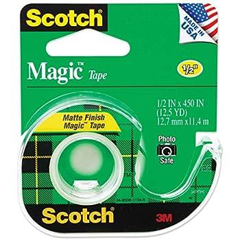 Scotch Magic Tape, 1/2 x 450 Inches, 6 Rolls