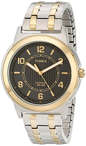 Timex Men's Bank Street | Two-Tone Band & Case Black Dial | Watch TW2P61900 Banks Two Tone Watch