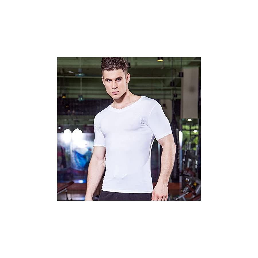 Lavento Men's Cool Dry Compression Shirts Short Sleeve Workout T Shirts