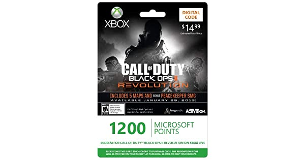 Amazon com: Xbox LIVE 1200 Microsoft Points for Call of Duty