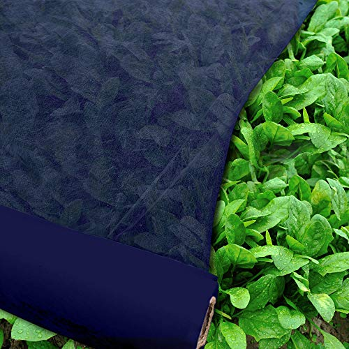 Agfabric Freeze Protection Floating Row Cover Winter Garden Plant Cover 1.5oz Fabric of 7x50ft Frost Protection Plant Blanket, Dark Blue