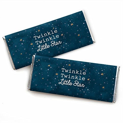 (Twinkle Twinkle Little Star - Candy Bar Wrappers Baby Shower or Birthday Party Favors - Set of)