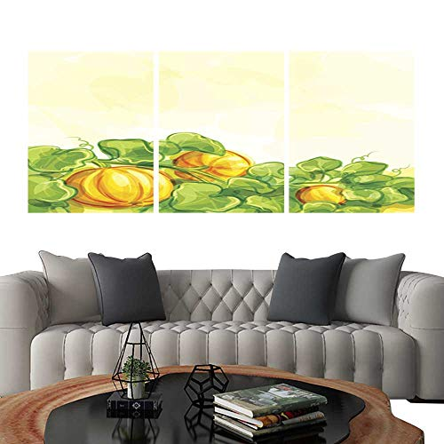 UHOO Prints Wall Art PaintingsVector Background with Pumpkins. Customizable Wall Stickers 20