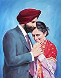 Personalized Anniversary Gift - Custom Portrait on Canvas From Photos