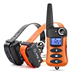Ipets 620-2 100% Waterproof & Rechargeable Dog Shock Collar 900 ft Remote Dog Training Collar Beep Vibrating Electric Shock Collar Dogs (10-100lbs)