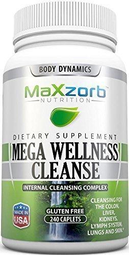 (Mega Wellness Internal Cleanse Cleansing Complex – Natural Herbal Detox Cleanse – 240 caplets)