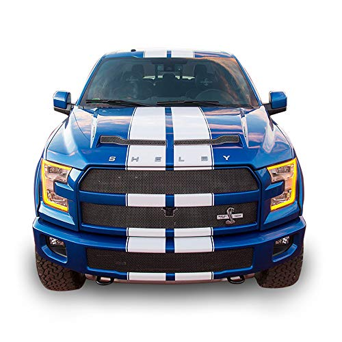 (Bubbles Designs Decal Sticker Vinyl Body Racing Stripe Kit Compatible with Ford F150 SVT Raptor Shelby)