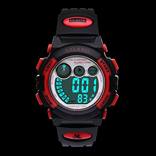 AZLAND Kids Watches,Digital Sports Watch Features Night ...