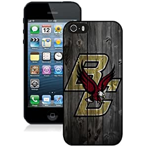Beautiful Designed With NCAA Atlantic Coast Conference ACC Footballl Boston College Eagles 6 Protective Cell Phone Hardshell Cover Case For iPhone 5S Phone Case Black