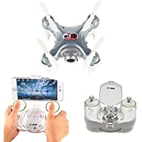 Cheerson CX-10WD-TX Wifi 0.3MP Camera RTF 2.4G 6-Axis Gyro FPV Wifi Remote Control Real-time Video Fixed-Height Mini Drone Aerial Quadcopter SILVER