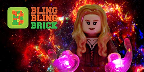 51j BlingBlingBrick - Scarlet Witch Wanda Minifigure with LED Light Up Chaos Magic