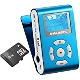 Majestic SDB 8339 EPCB Lettore MP3 con Radio e Display, Memoria 8 GB su Micro SD, Azzurro
