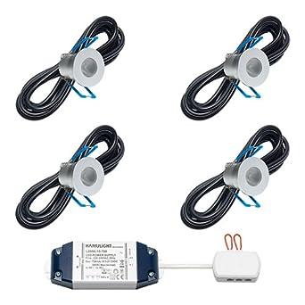 Foco LED empotrable Malaga | Luz Blanca Cálida | Juego con 4, 6, 8, 10 o 12 unidades), 4 unidades: Amazon.es: Iluminación