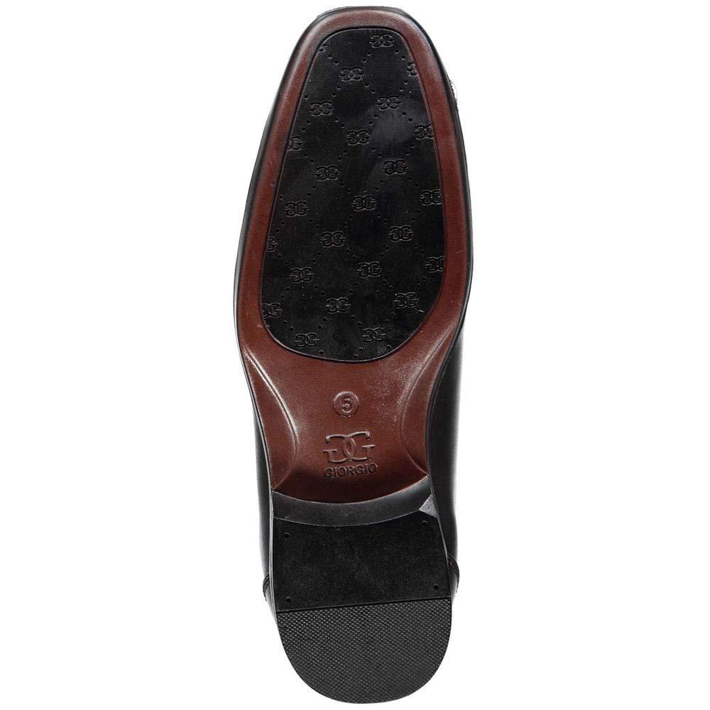 d7cd2a66e8d73 Amazon.com: Giorgio Big Boys' Bourne Slip-On Dress Shoes Black 6 ...