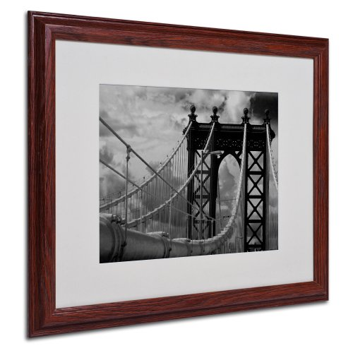 UPC 886511219212, Trademark Fine Art Manhattan Bridge by Yale Gurney Canvas Artwork in Wood Frame, 16 by 20-Inch