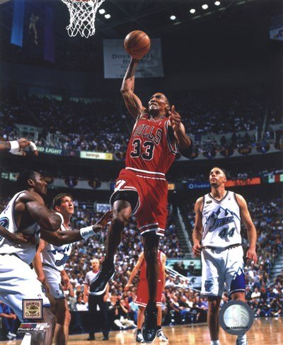 Scottie Pippen Game 2 of The 1998 NBA Finals Action - 8x10 Inches - Art Print - 1998 Nba Game Finals
