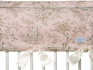 product image for Glenna Jean 2 Piece Maddie Convertible Short Crib Rail Protector, Pink
