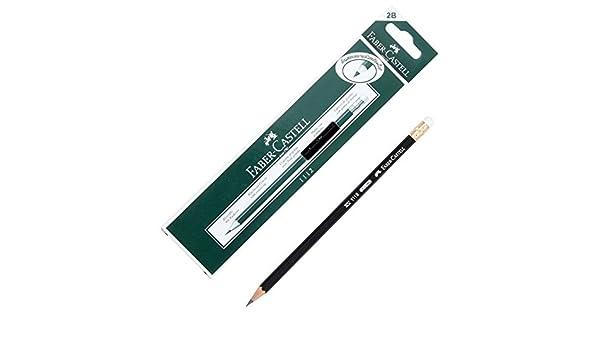 Faber Castell 2B negro lápiz plomo sv-1112, pack 12 pcs.: Amazon.es: Oficina y papelería