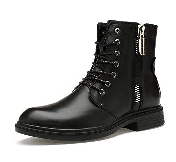 Hombre Martin Botines, Cuero Botas con Cordones ejecutivas Alta Ayuda Zapatos Trabajo Martin Botas Cowboy