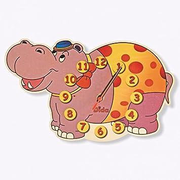 Horloge Murale Bois Enfant Dida En Hippopotame OwkXZPiuTl