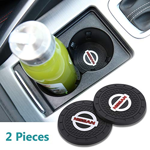 Yuanxi Electronics 2pcs 2.75 inch Car Interior Accessories Anti Slip Cup Mat for Nissan All Models