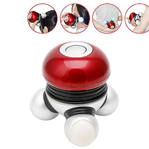 LIYUDL Vibrating Mini Body Massager – Battery Powered – Relax Massage Scalp Head Neck Shoulders Back – Hand Held Portable Personal Massaging, for Home Auto Travel.