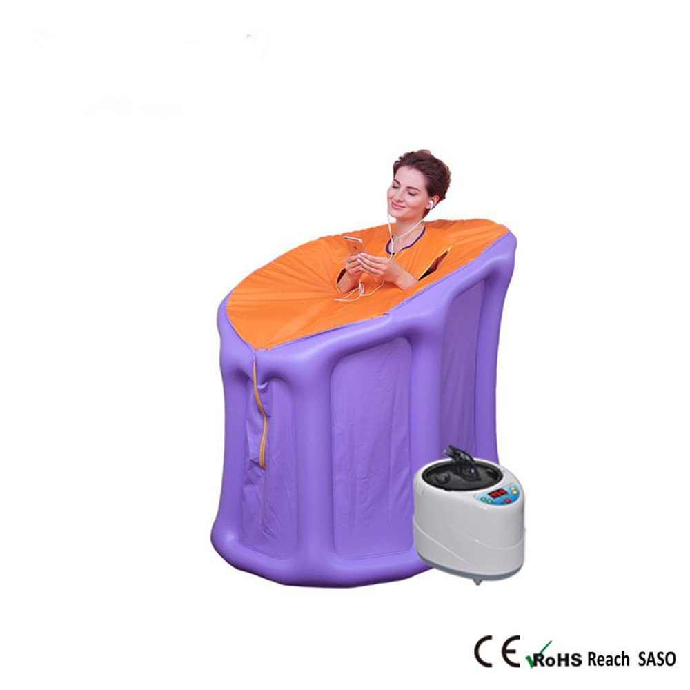 Sauna Tent Inflatable Sauna Box Spa Sauna Tent Steam Sauna Tent Spa Room Portable Infrared Home Spa One Person Sauna for Detox & Weigh Improve Sleep Quality, Burned Household Sauna Box Steam(110V)
