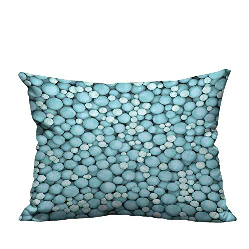 Modern Fashion Cushion Cover Round Covered Marbles Pearls Balls Spheres in Different Sizes Artwork Resists Wrinkles 11x19.5 inch(Double-Sided Printing)